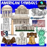 American Symbols Clip Art Bundle {Educlips Clipart}