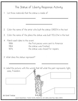 American Symbols Differentiated Close Reading Passages