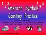 American Symbols Counting Practice for Kindergarten- Veterans Day
