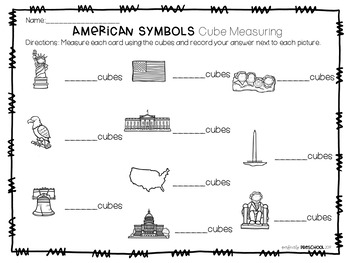 American Symbols Cube Measuring