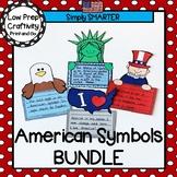 American Symbols Cut And Paste Writing Craftivities Bundle