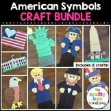 American Symbols Crafts Bundle | Presidents Day | Patriotic Craft Activities