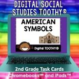 American Symbols Digital Social Studies Toothy® Task Cards
