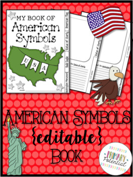 American Symbols {Editable} Book