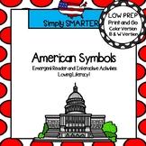 American Symbols Emergent Reader Book AND Interactive Activities