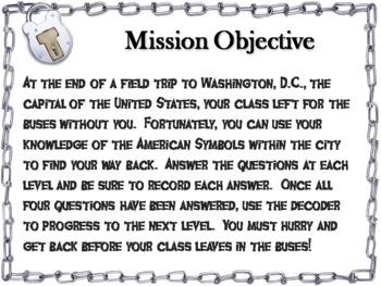 American Symbols: Escape Room - Social Studies