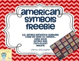 American Symbols FREEBIE  U.S. Symbol Quilt or Class Book Printable