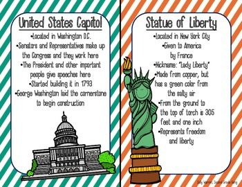 American Symbols- * Fact Cards and Picture Cards *