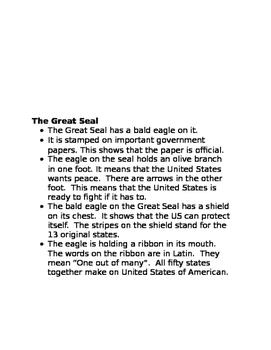 American Symbols Facts