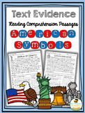 American Symbols - Finding Text Evidence Reading Comprehen