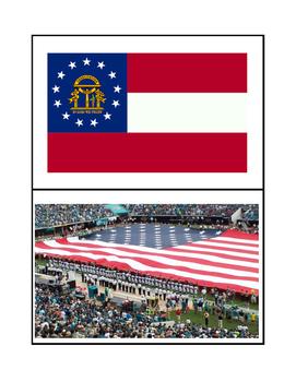 American Symbols Flash Cards - Kindergarten