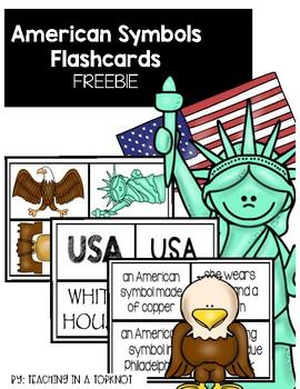 American Symbols Flashcards FREEBIE
