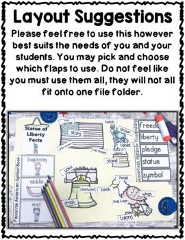 American Symbols Activities Interactive Notebook Lapbook