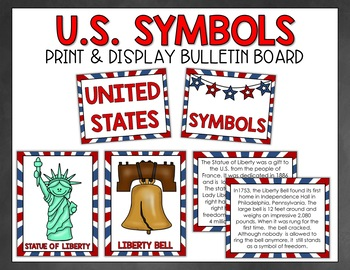 United States Symbols Foldable Booklet and Word Wall