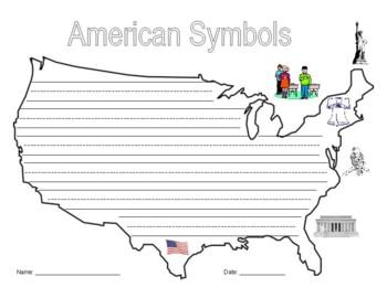American Symbols Foldable and Flip Book