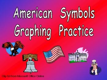 American Symbols Graphing Practice for Kindergarten- Veterans Day