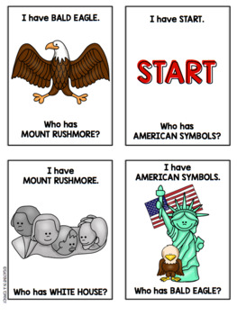 American Symbols I Have Who Has