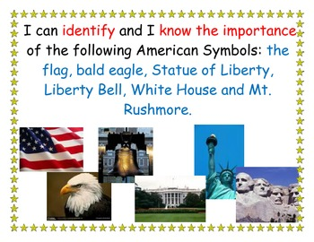 American Symbols Learning Target