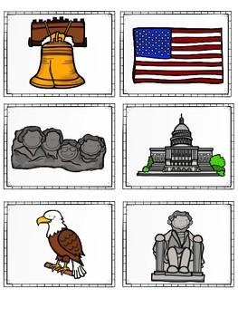 American Symbols Match Cards {Dollar Deal}