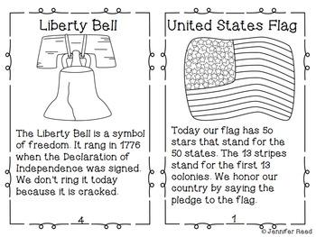 American Symbols Mini Book