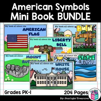 American Symbols Mini Book Bundle for Early Readers