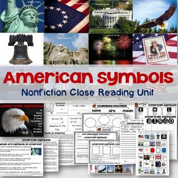 American Symbols Nonfiction Close Reading and Visual Vocabulary Unit