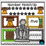 American Symbols Number Match Up