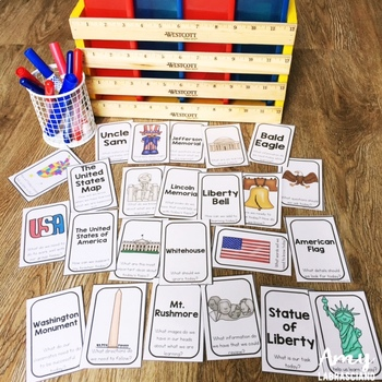 American Symbols Partner Pair Cards