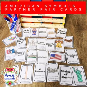 American Symbols Partner Pair Cards