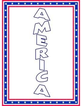 American Symbols Patriotic Word Ladder Activity