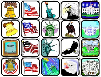 American Symbols Matching and Sorting for Autism