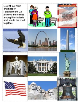 Constitution & American Symbols: Pledge of Allegiance, Chart, Foldable - Spanish