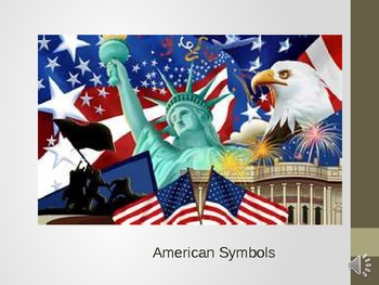 American Symbols Powerpoint Presentation with Test for Autism