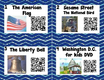 American Symbols/President's Day QR Codes