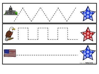 American Symbols Prewriting Skills {Dollar Deal}