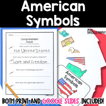 American Symbols Reader and Comprehension Check for President's Day
