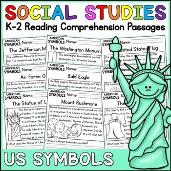 American Symbols Reading Comprehension Passages (K-2) - Social Studies