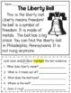 American Symbols Reading Comprehension and Text Evidence printable