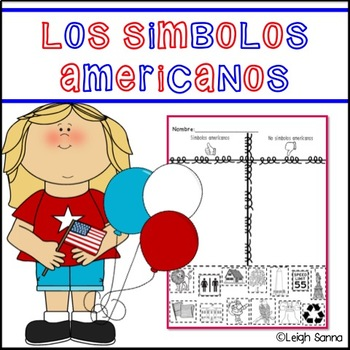 American Symbols Sort in Spanish // Simbolos americanos