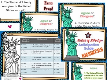 American Symbols! Statue of Liberty Anticipation Guide & AWESOME Show!!