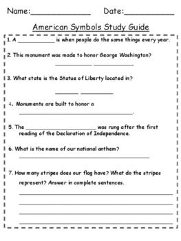 American Symbols Study Guide