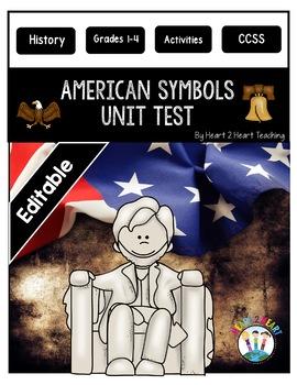 American Symbols Test - National Symbols Test {Editable}