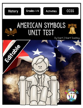 American Symbols Test - National Symbols Test {Editable}