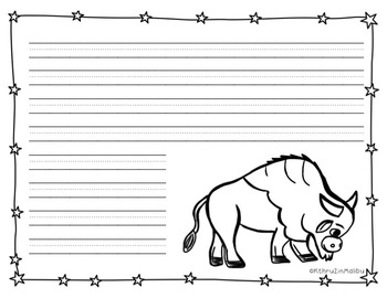 American Symbols-The American Bison-Non-Fiction Reader and Craftivity