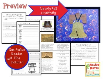 American Symbols-The Liberty Bell-Non-Fiction Reader and Craftivity