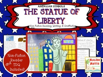 American Symbols-The Statue of Liberty-Non-Fiction Reader and Craftivity