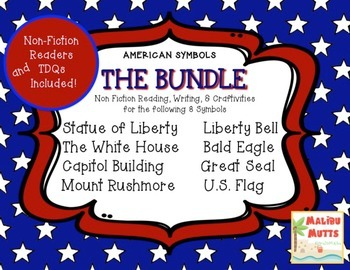 American Symbols-The ULTIMATE BUNDLE- 8 Nonfiction Texts & Craftivities