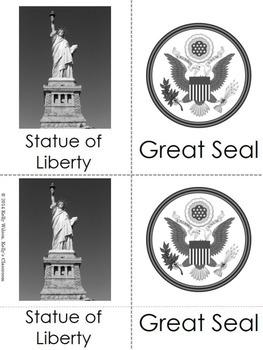 American Symbols Three Part Vocabulary Cards
