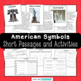 American Symbols Activities - Trading Cards with Reading Comprehension Questions