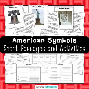 American Symbols Trading Cards - Social Studies Center Activity